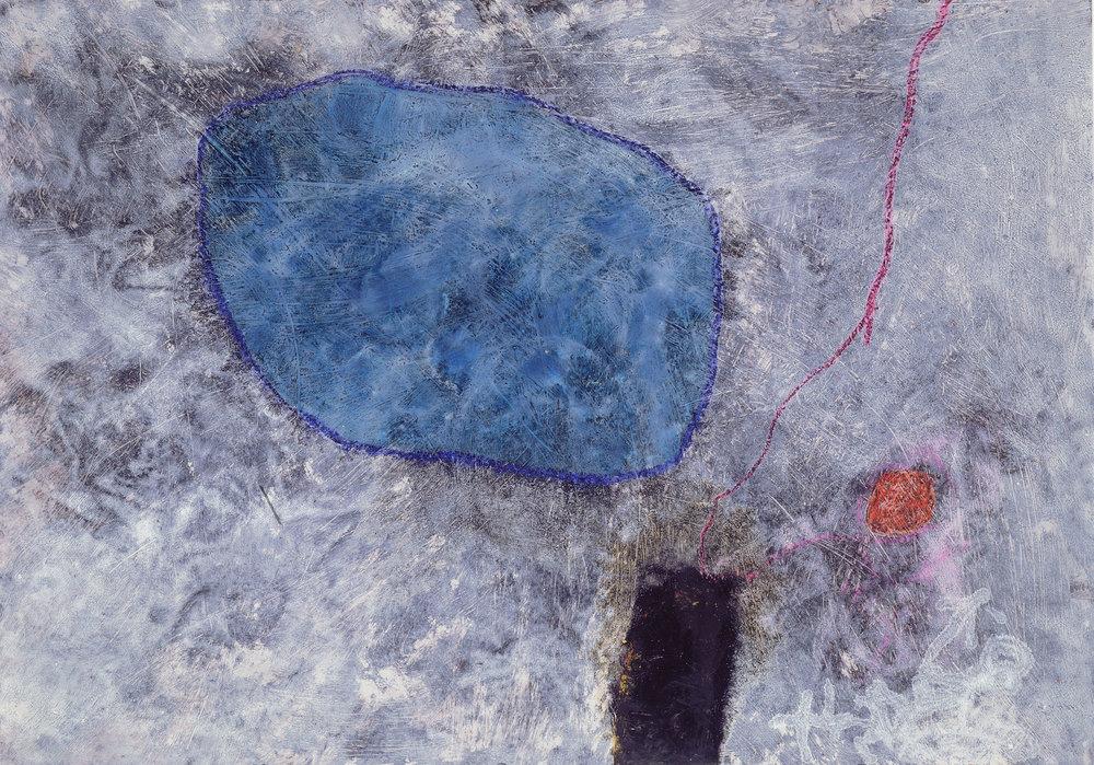 Sense títol  , pintura sobre planxa d'alumini, 1990, 75 x 105 centímetres