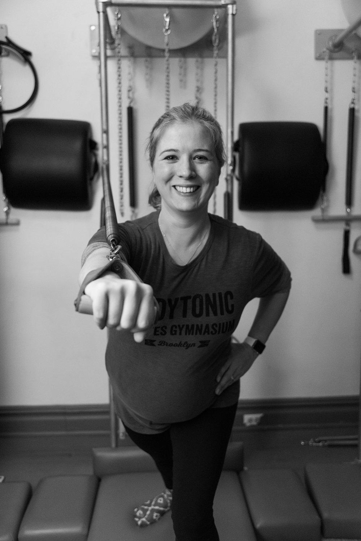 Prenatal Pilates Client at BodyTonic Pilates