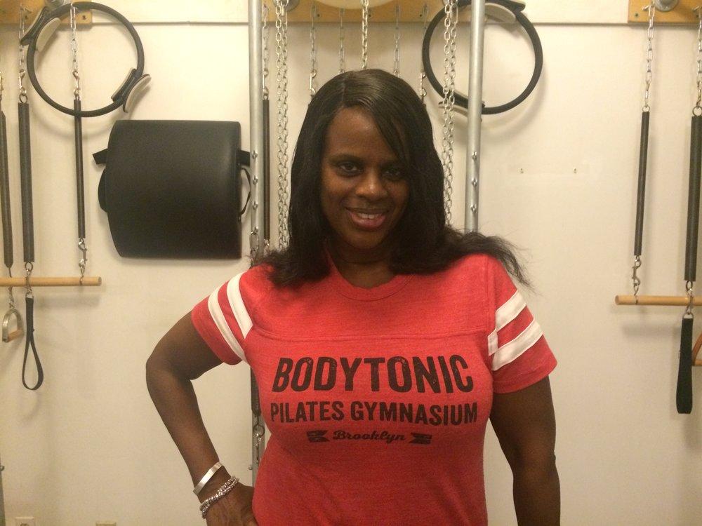Linda Faye, a BodyTonic Pilates client