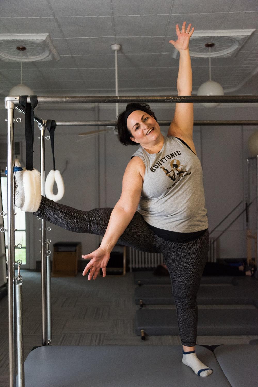 Marla, a BodyTonic Pilates client