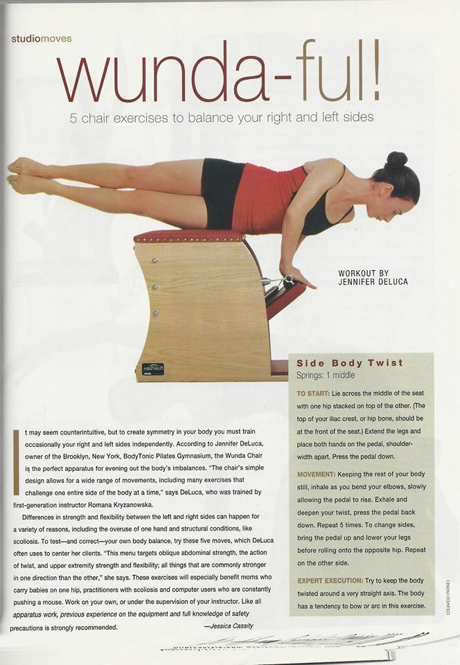 Jennifer DeLuca in Pilates Style Magazine