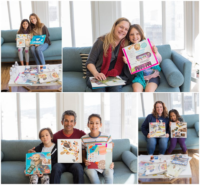 Parents and kids show off their vision books