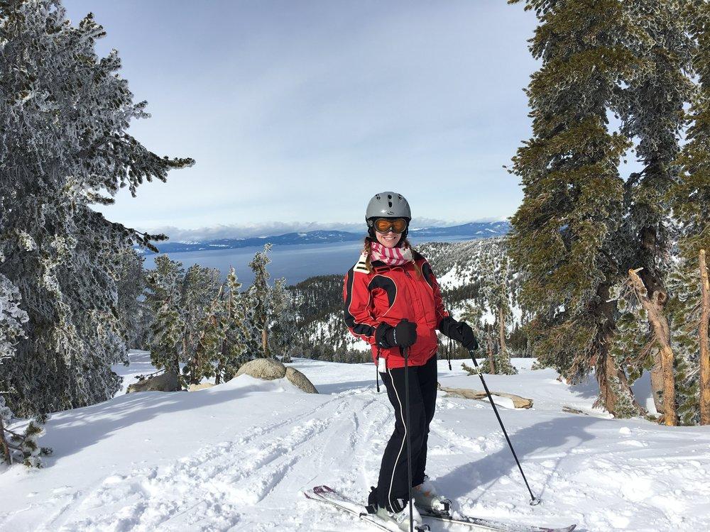 Mom skiing at Heavenly Ski Resort_lori fuller photography