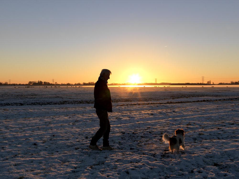 Koos en zijn hond Sunny