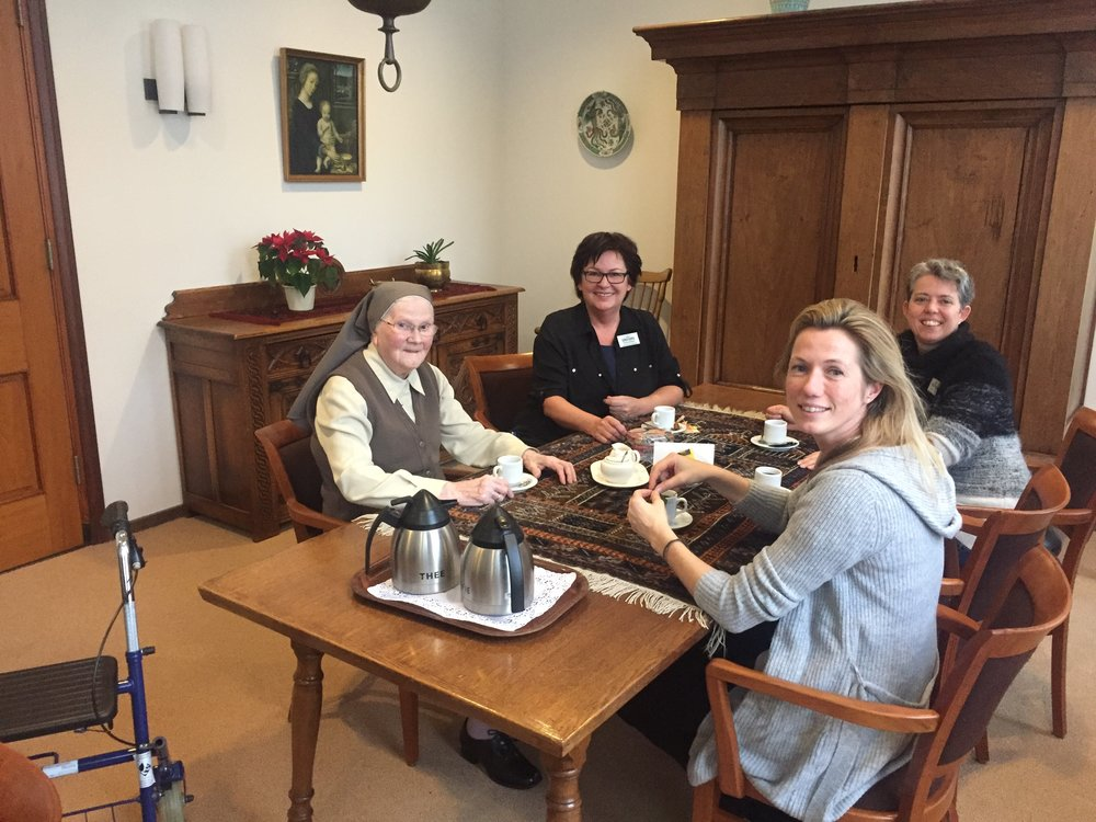 Op de koffie bij Zr Egberdina van de Franciscanessen orde in het Brabantse Veghel. Volgende maand wordt ze 100 jaar.