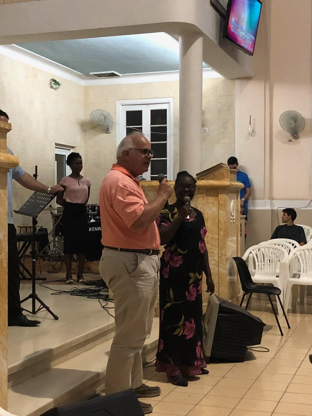 Reb Ferrell addresses the Vedado Methodist Church