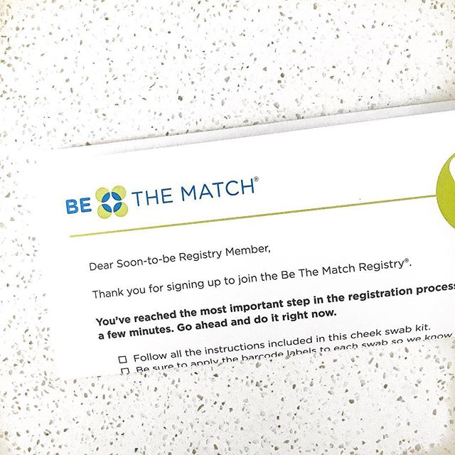 ⁣ Joining the bone marrow registry & hoping to be a match someday! I've been reading so much about the process & it's not nearly as intimidating as most perceive it to be. Just some statistics to consider:⁣ ⁣ ▪️ Every 3 seconds someone is diagnosed with a disease that can be CURED by a bone marrow transplant. ⁣ ▪️ Only 1 in 300 of those registered will be a match for someone. ⁣ ▪️ Only 1 in 430 of those registered will donate. ⁣ 〰️⁣ #bethematch #bonemarrowregistry #changealife #donateblood⁣