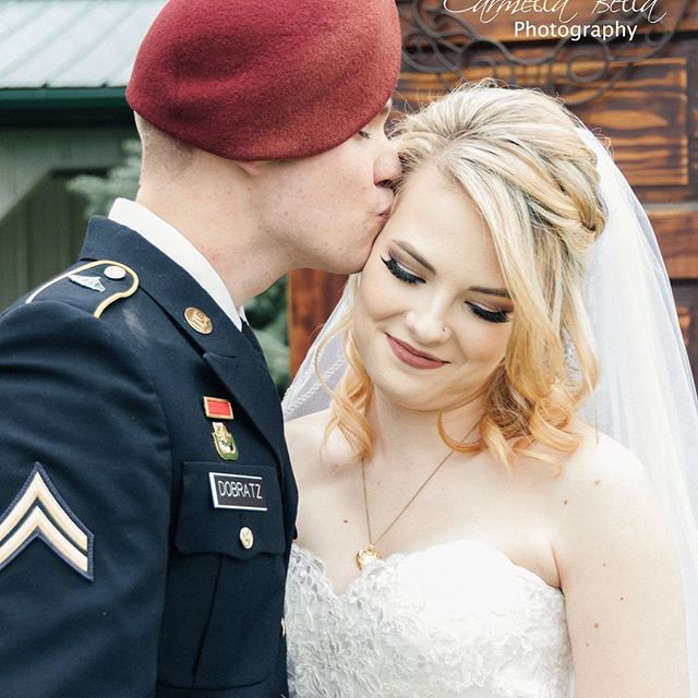 Nikki & Justin tied the knot yesterday!! #wedding #barnweddingvenue #mnwedding #militarywedding