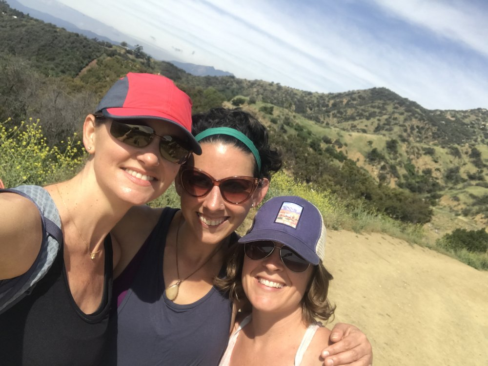 Me, Kaity, and Jay on our delightful hike along Shelf Road over Ojai