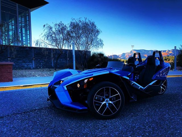 Blue Dreaming... 💎 Memories will be made in the slingshot. Visit our website in bio to see how you can  rent one today.  #sedona #tours #az #phoenix  #scottsdale #flagstaff #lasvegas #sandiego #mexico #cottonwood #northernarizona #polarisslingshot #myslingshot #slingshotsonly @slingshotsonly