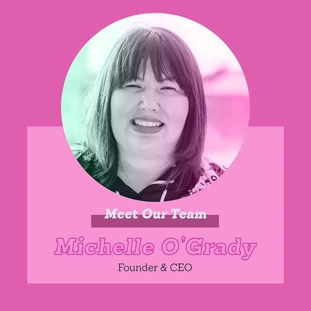 Meet the Team! The amazingly talented creatives that make Team Friday the unique place that it is 🤗 • First up, our Founder & CEO: @msmichelleogrady! Michelle founded Team Friday over 5 years ago and has been it's ingenious leader ever since💪🏻💃🏻🙌🏼