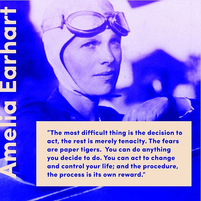 An amazing shero was born this week: Happy Birthday, Amelia Earhart! In the comments below, tell us about a woman you draw inspiration from🤗 • • • • • #ameliaearhart #shero #imwithher #womeninflight
