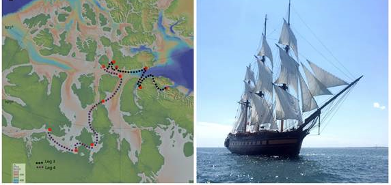 SSV  Oliver Hazard Perry  will sail to the Northwest Passage in 2017 as part of the University of Rhode Island's groundbreaking ocean science research expedition. (courtesy URI and OHPRI)  Available for download in high resolution by clicking the photo