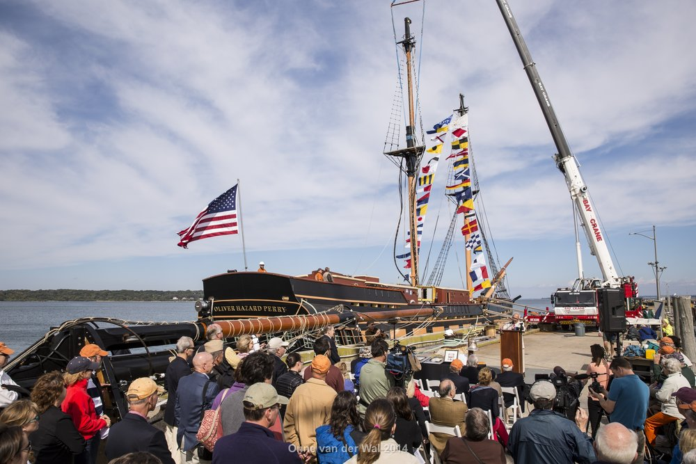Mast Stepping ceremony in 2014 (Onne van der Wal)