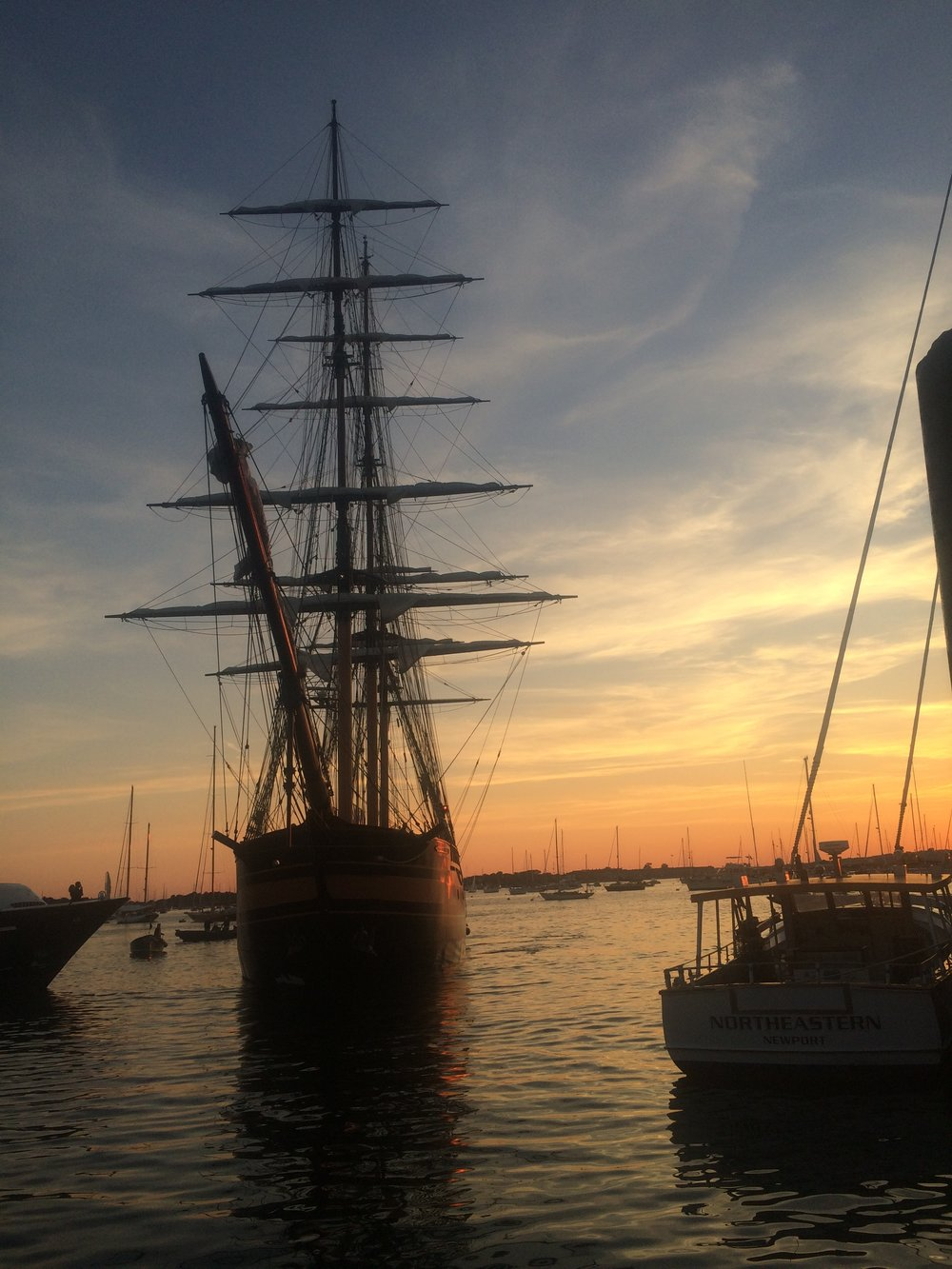 A beautiful sunset with full rigging from 2015