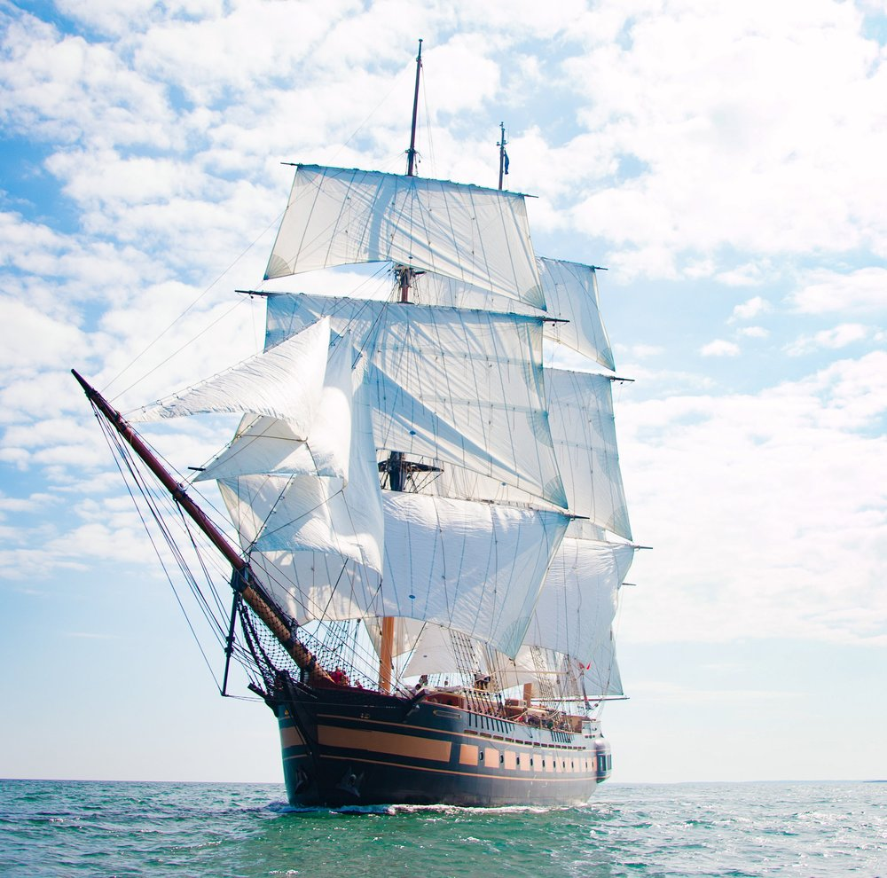 SSV  Oliver Hazard Perry  under sail in 2018. (credit Ted Neighbors)