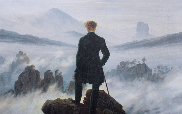 Caspar David Friedrich - The Wanderer Above The Mists