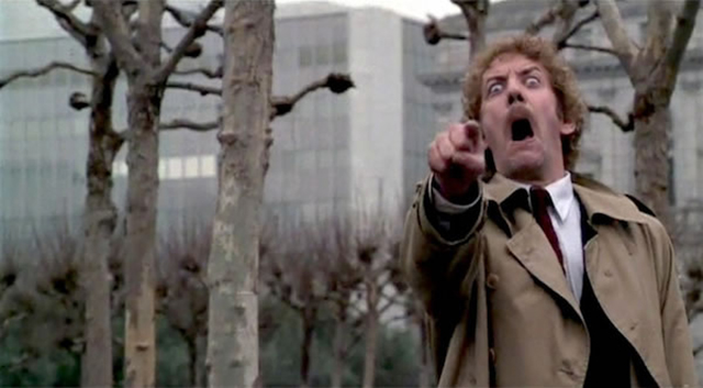 Donald Sutherland Scream from Invasion of the Body Snatchers