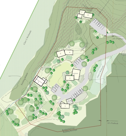 Conceptual plan for cohousing village.