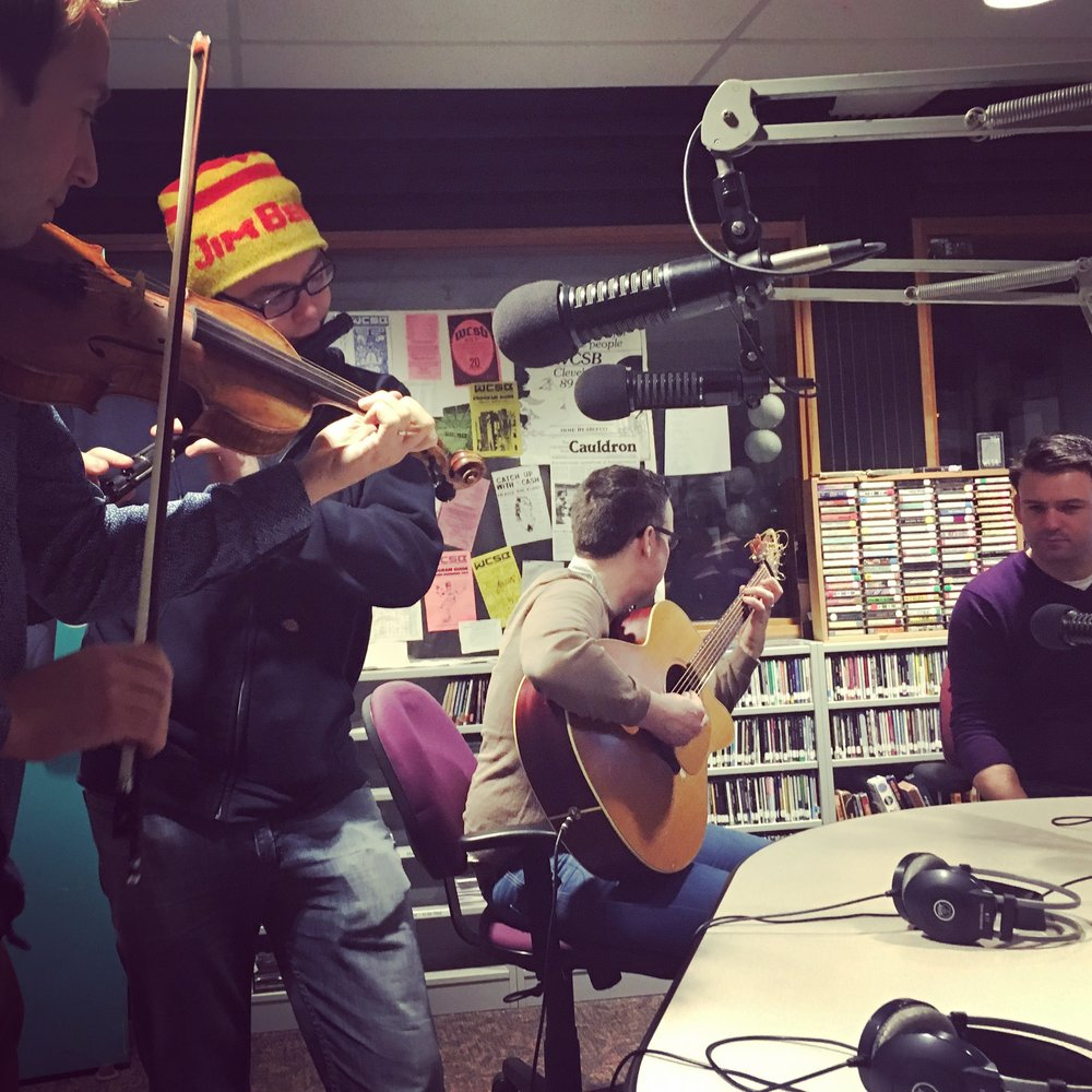 Live studio performance on the radio in Cleveland OH.