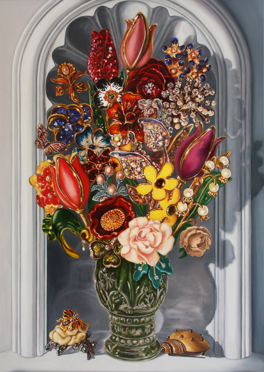 Dutch Bouquet © 2014 Oil on canvas 48 x 32""