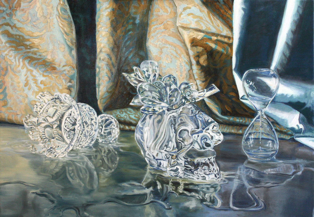 """Still Life with Skull and Chalice © 2013 Oil on canvas 40 x 28"""""""