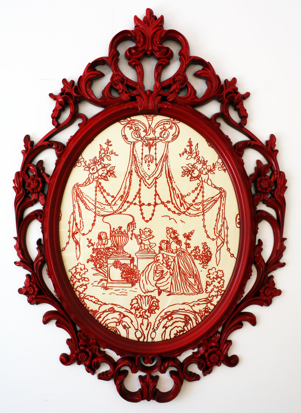 The Rite of Sext (Red) © 2014 Framed Silkscreen print 34 x 26""