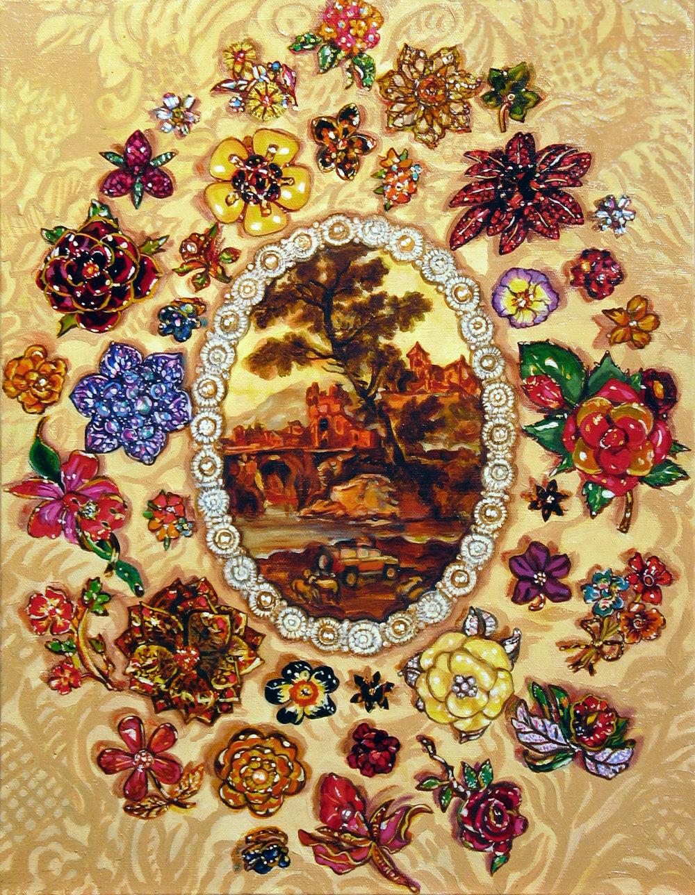 """Bouquet Pastorale © 2009 Oil on canvas 18 x 14"""""""