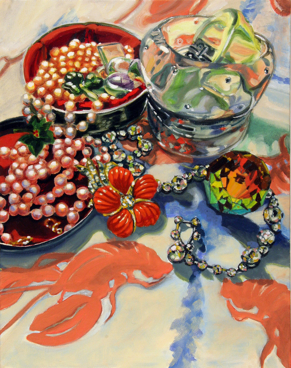 Banquet © 2007 Oil on canvas 14 x 11""