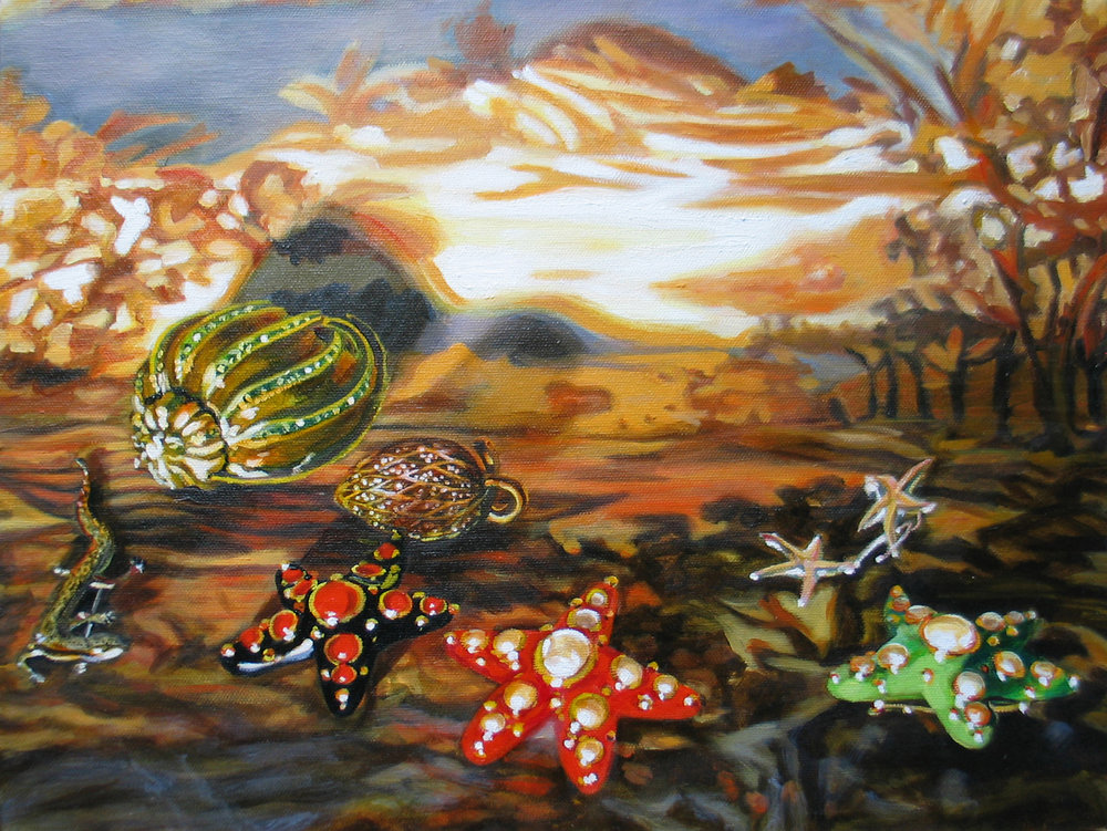 "Shipwreck © 2007 Oil on canvas 12 x 16"""