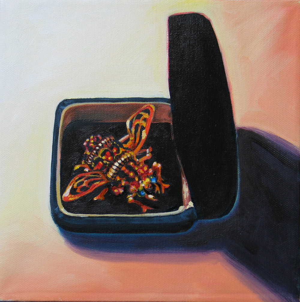 Arthropoda © 2007 Oil on canvas 8 x 8""