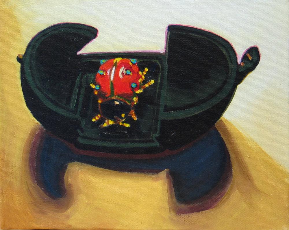 """Coccinella © 2007 Oil on canvas 8 x 10"""""""