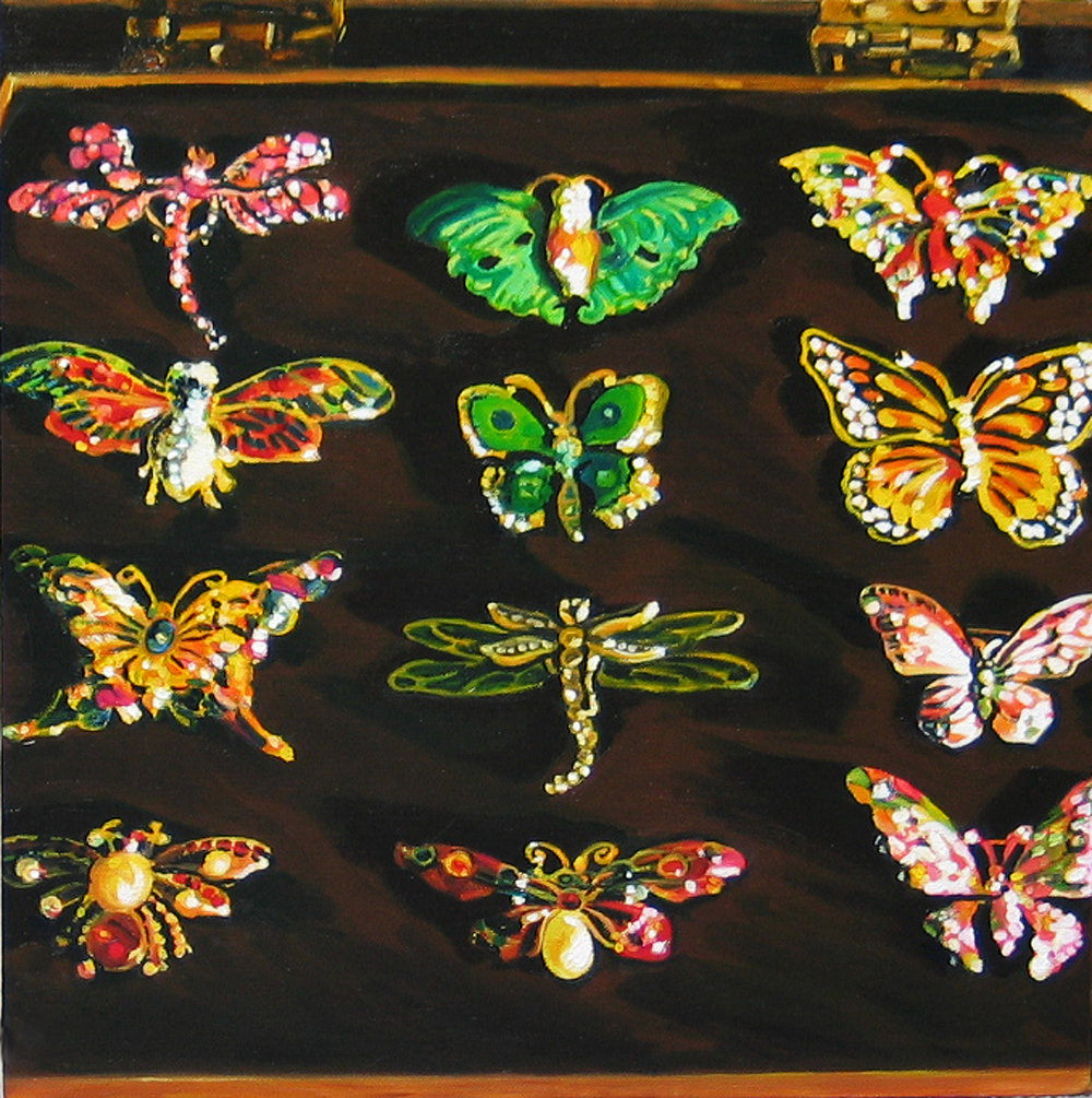 Lepidoptera © 2007 Oil on canvas 14 x 14""