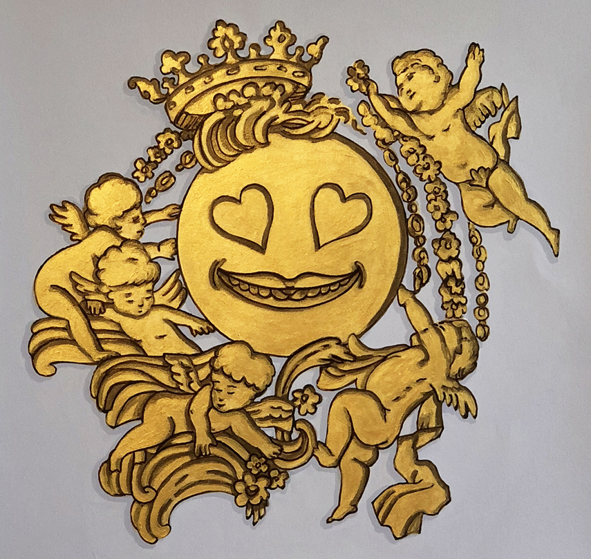 Lisa Ficarelli-Halpern, Baroque Emoji Series: Heart Eyes, ©2018
