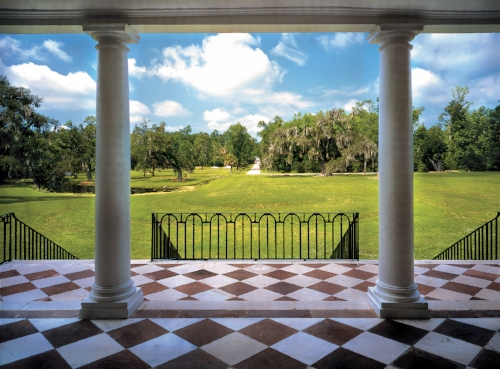 8  Drayton Hall - view of landscape 1stfloor portico - Photographer Ron Blunt (2).jpg