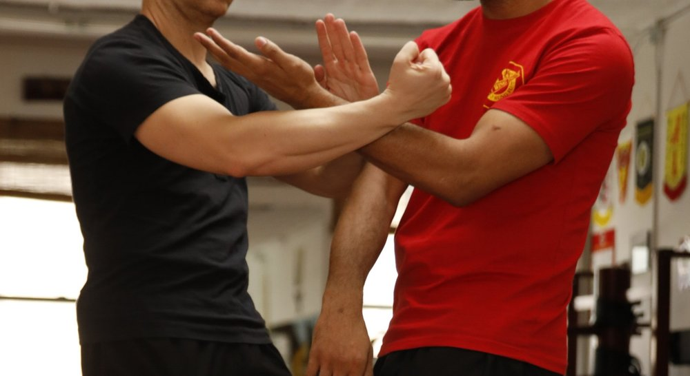 The Roller Coaster exercise includes the Lifting Punch ( chau chong kuen )