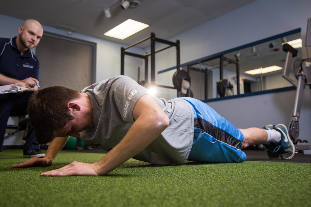 The performance center at OrthoCore is designed to help patients continue their growth and strength training after they have completed their treatment.