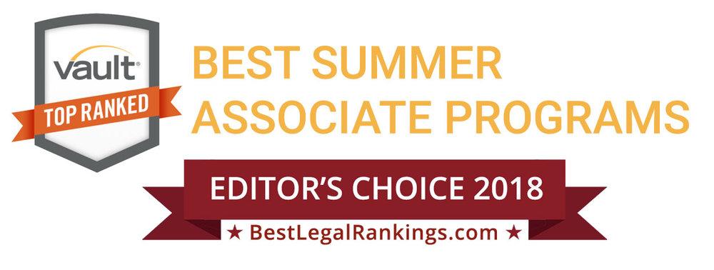Vault Best Summer Associate Programs