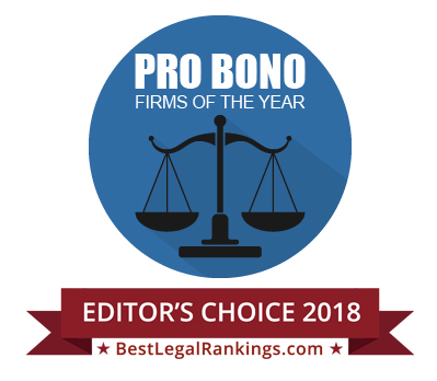 Law360 pro bono firms of the year