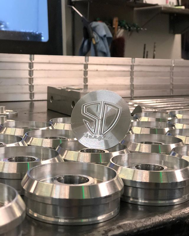 Working on updating the @sdforgedwheels #caps to add a little bit of character. - #SandmanDesigns