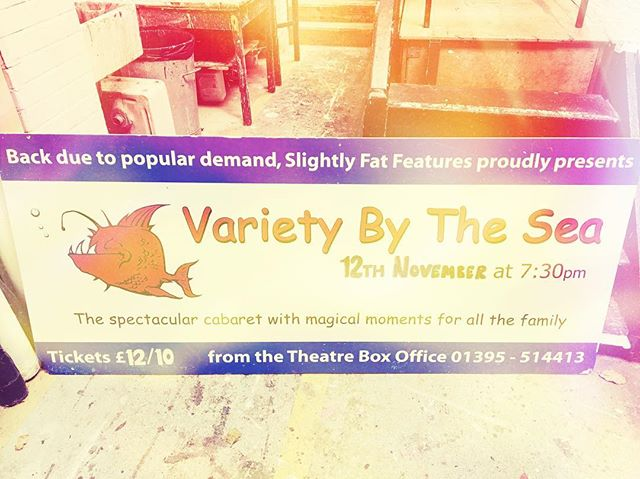 The sign has gone! In the bin- but 10 years later the show still goes on! #varietybythesea #manorpavilion