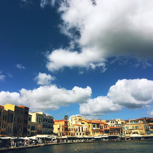 Ch ch ch Chania. #Greece #crete #harbour #cruising #lifeontheroad #spring  #greekislands