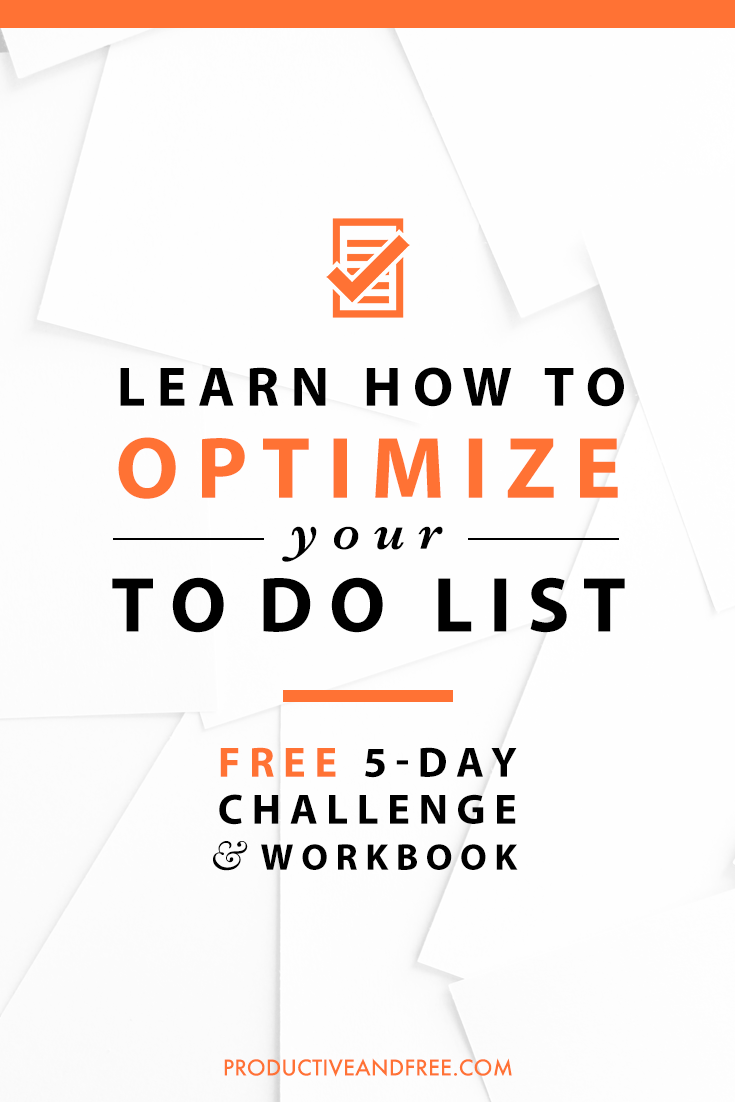 Optimize Your To-do List Challenge