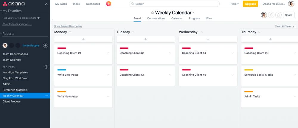 Organize Business Tasks in Asana | ProductiveandFree.com