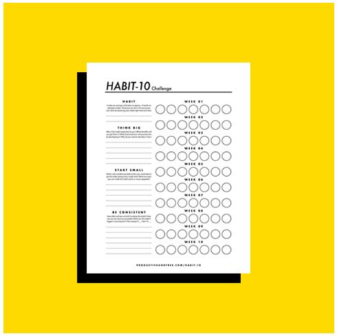 Habit-10 Challenge | ProductiveandFree.com