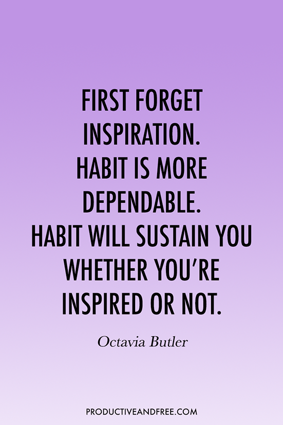31 Quotes to Inspire Good Habits | ProductiveandFree.com