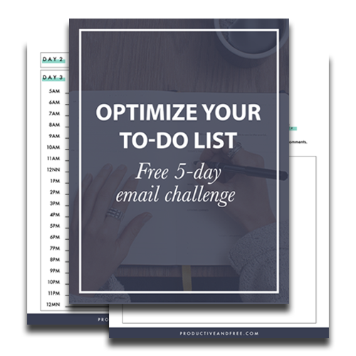 Optimize Your To-do List Challenge | ProductiveandFree.com