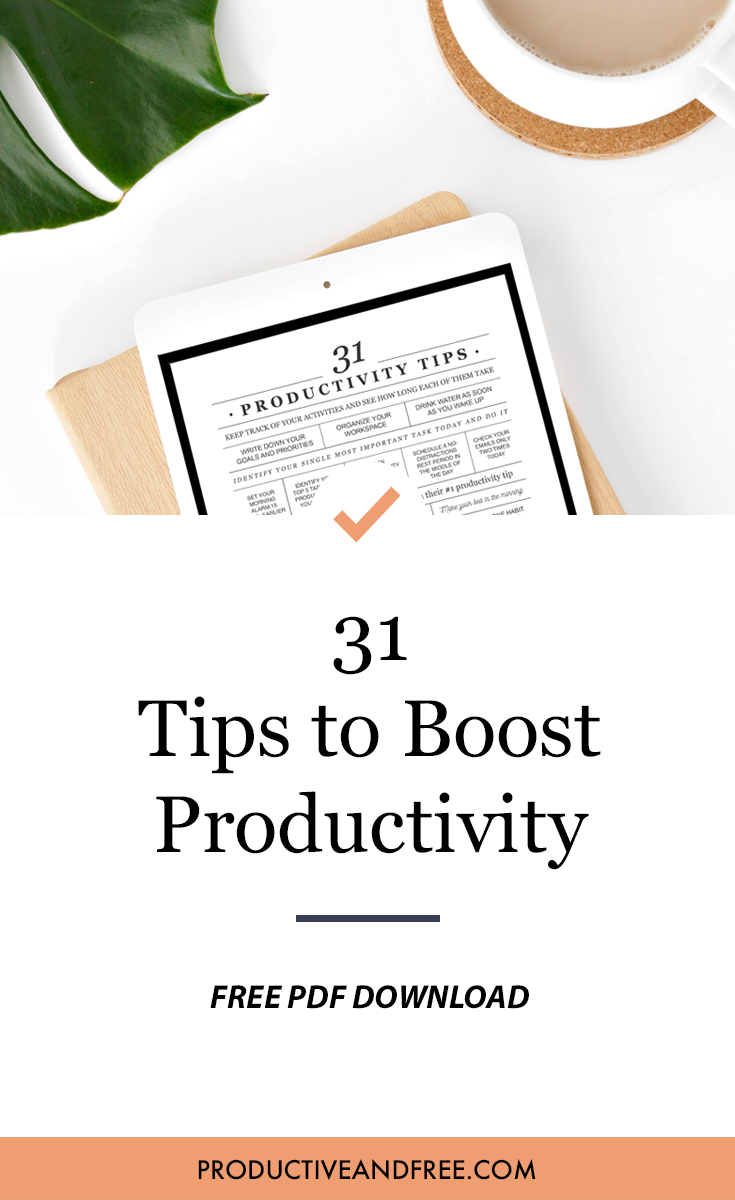 Daily Productivity Tips (Free PDF)