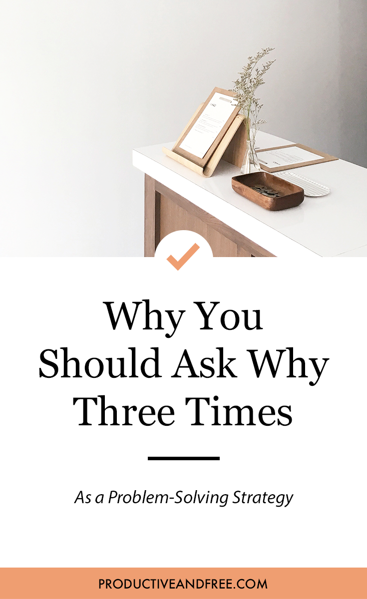 Ask Why 3 Times | Productive and Free