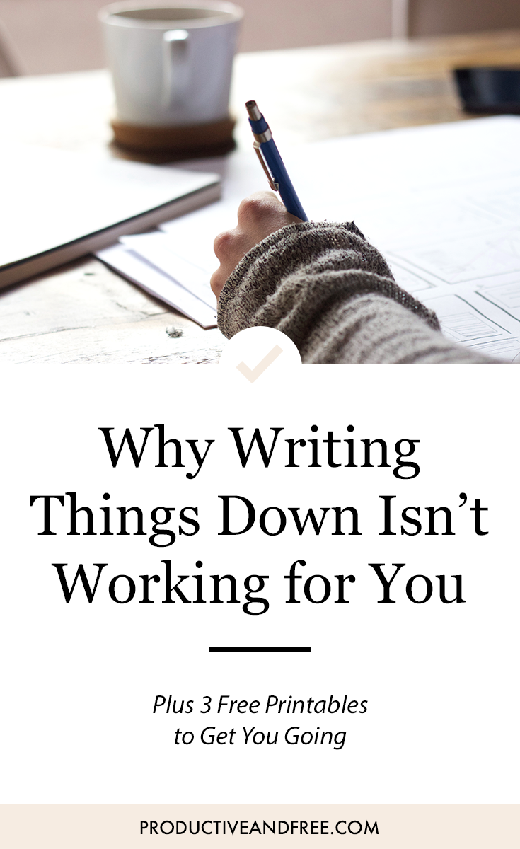 Why Writing Things Down Isn't Working For You | ProductiveandFree.com